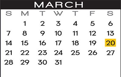 March Leaf Pick Up Calendar
